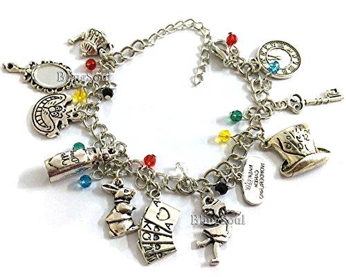 Alice in Wonderland Charm Bracelet - Disney Alice in Wonderland Jewelry for Women for $<!--$12.99-->