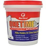 Red Devil Available 0548 Onetime Spackling Pint, 1, White