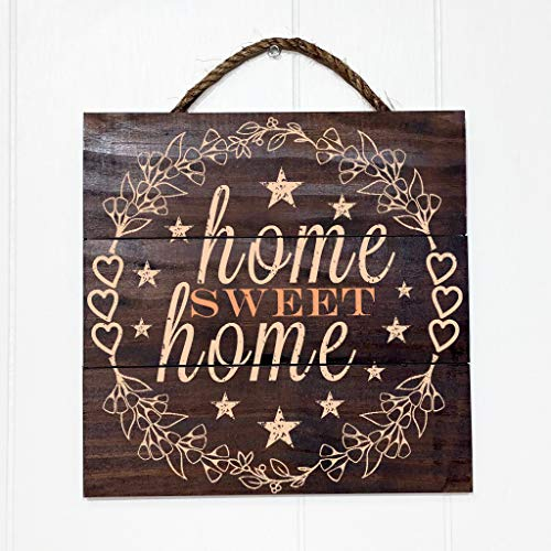 Flower Star Vintage (Artblox Rustic Wall Decor Sign Home Sweet Home Quotes Flowers, Hearts & Stars Real Barn Wood Pallet Vintage Farmhouse Decorations Wooden Art Prints Home Decor Plaque 10.5x10.5)