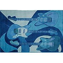 LA Rug TSC-010 3958 Supreme Collection The Blues Rug - 39 x 58 Inch
