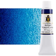 Turner Concentrated Professional Artists' Watercolor Paint 15ml Tube - Prussian Blue