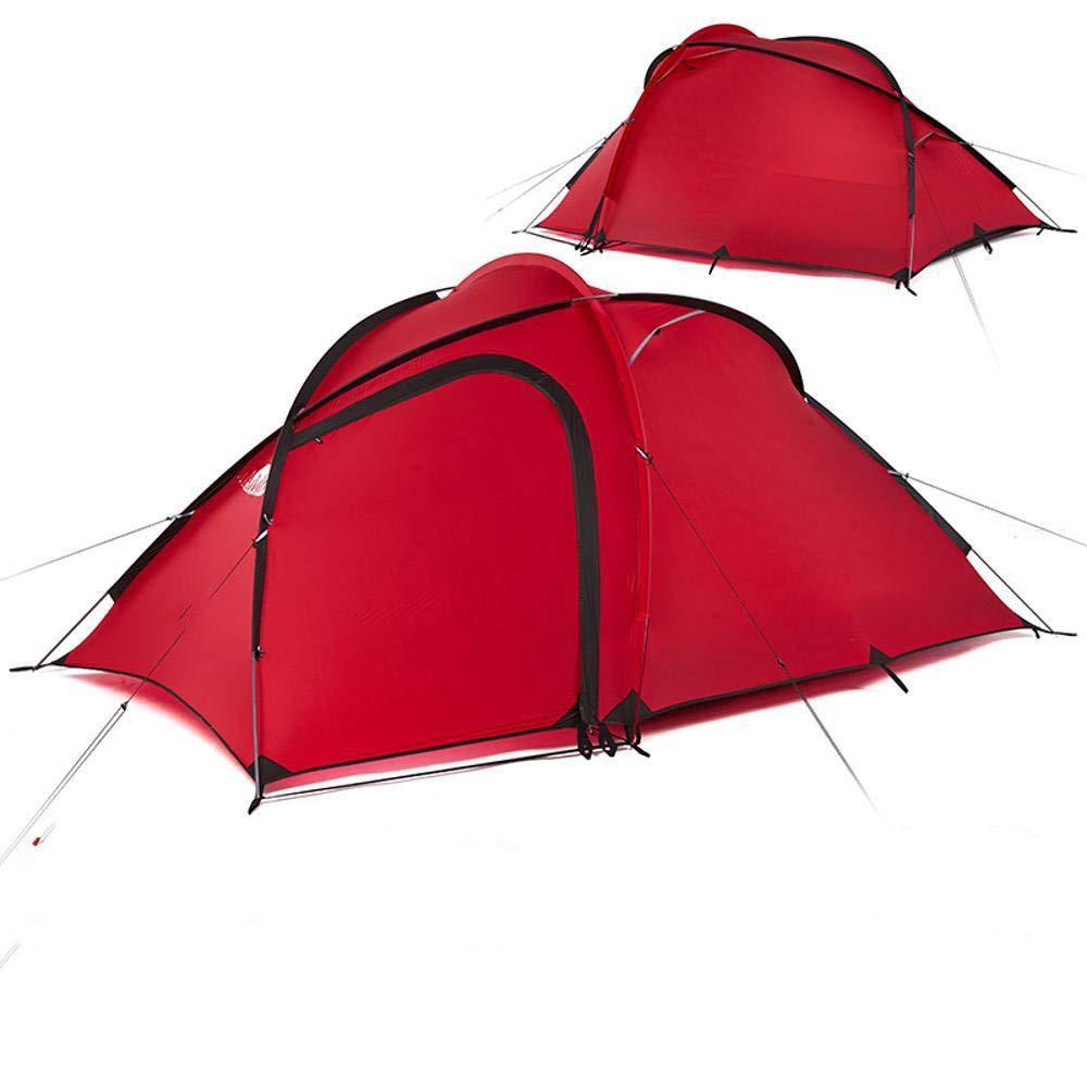 Lxj Outdoor-Zelt EIN, Halle Zelt Outdoor Familie Camping Bergsteigen Regen-Proof Doppel Zelt 200 + 115  145  h135cm