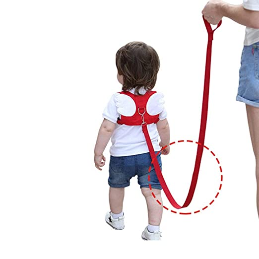 Amazon.com : Potelin Toddler Leash Anti Lost Leash Baby Safety Leash Toddler Walking Straps Safety Harness Backpack for Baby or Kids Angel Wings Shape Red : ...