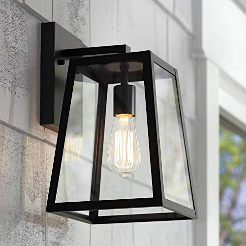 (Arrington Modern Outdoor Wall Light Fixture Black 13