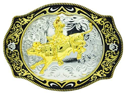 Moranse Gloden Cowboy Riding Bullfighter Western Style Design Belt Buckles