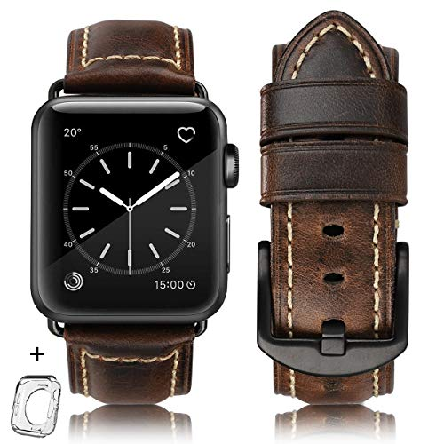 Compatible Leather Replacement iWatch discoloured product image
