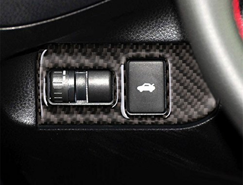 wroadavee Carbon Fiber Console Rear Trunk Switch Button Cover For Toyota 86 GT86 Scion FR-S 2012-2017