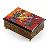 Artistic 18 Note ''Rainbow Dance'' Italian Musical Jewelry Box - Three Coins in the Fountain