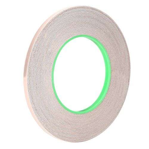 Adaman Copper Foil Tape With Double-sided Conductive - Stained Glass, Soldering, Electrical Repairs, Grounding, EMI Shielding