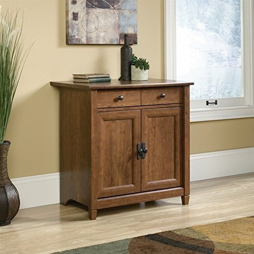 Sauder 419396 Utility Cart/Stand, Auburn (Cherry Kitchen Kitchen Cart)