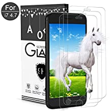 iPhone 6/6s/7 Screen Protector,AOFU Tempered Glass 3D Touch Compatible,9H Hardness,Bubble Free ( 3Pack )