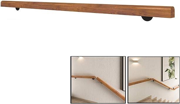 GJIF Escaleras Baranda, madera sólida antideslizante barandilla de la escalera, Interior de la casa Loft contra la pared de edad avanzada Baranda, personalizable Tamaño (Size : 8ft/240cm): Amazon.es: Bricolaje y herramientas
