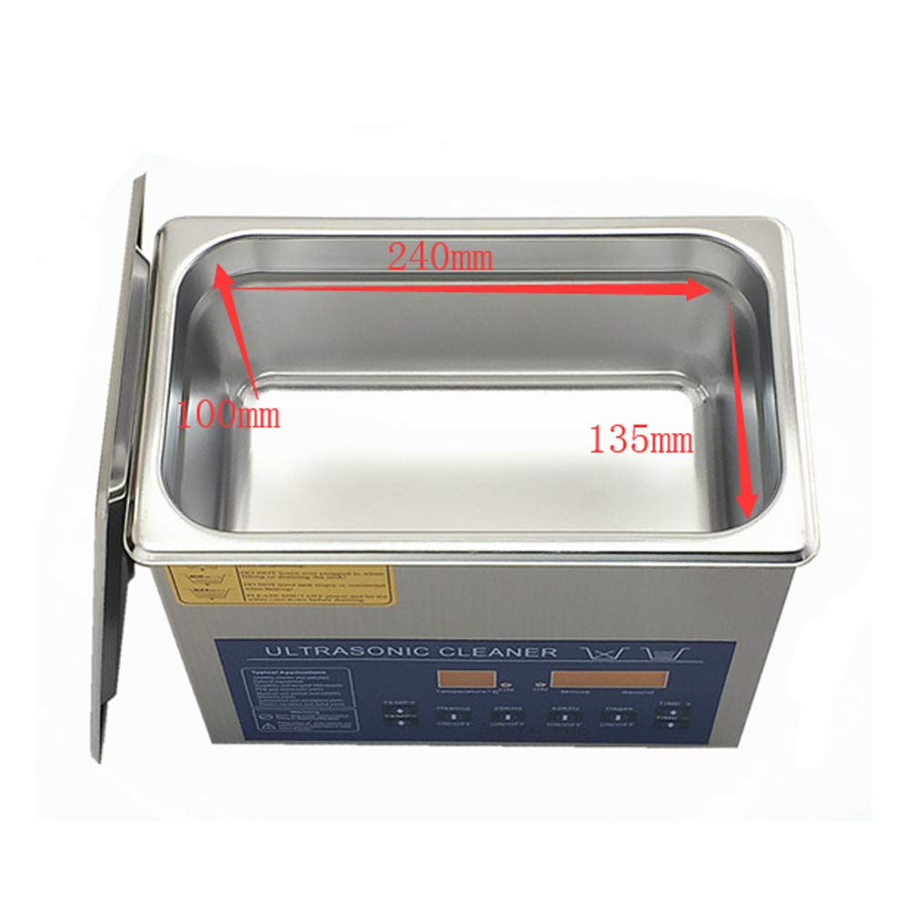 Dual Double Frequency 28/40khz Digital Ultrasonic Cleaner Cleaning Machine 3L (220V) by MXBAOHENG (Image #4)