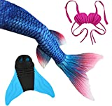 Kids Girls Women Colorful Mermaid Tail Monofin Swimmable Tail Swimwear Swim Costumes