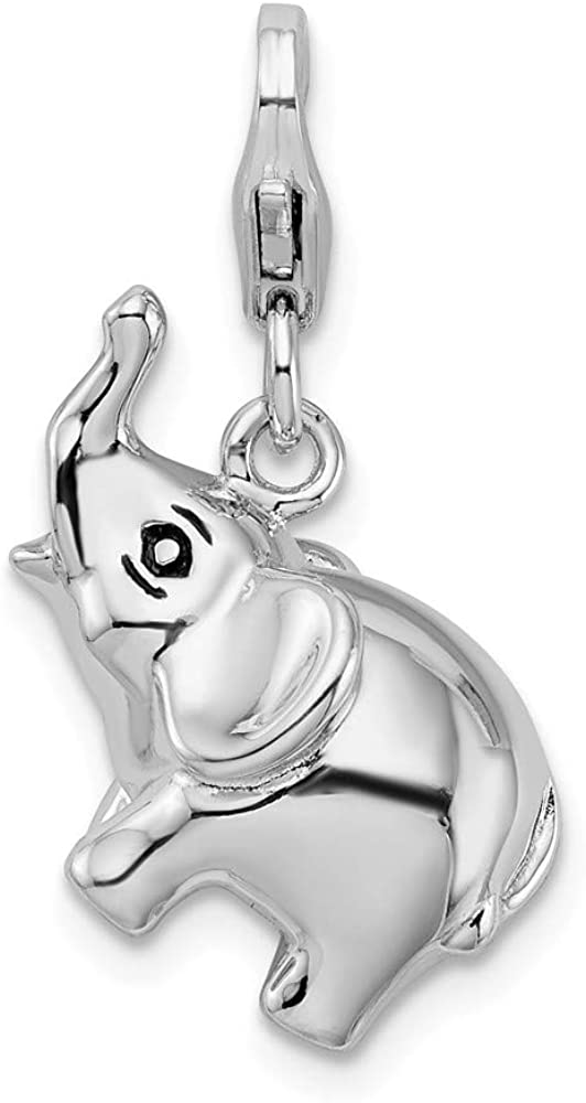 925 Sterling Silver Rh Enamel Rooster Lobster Clasp Pendant Charm Necklace Animal Fine Jewelry Gifts For Women For Her
