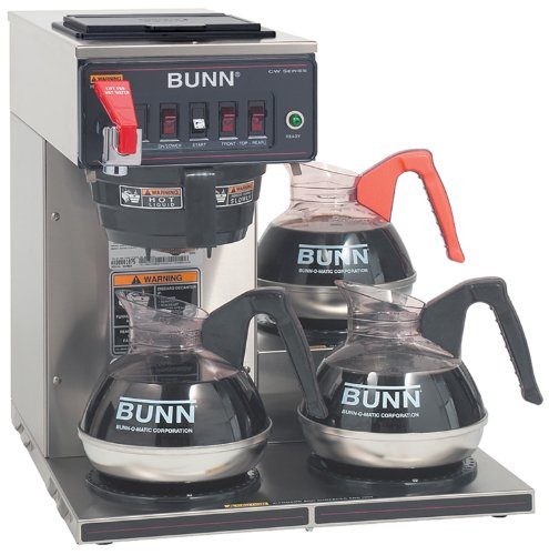 Bunn 12950.0252 CWTF35-3 Automatic Commercial Coffee Brewer with 3 Lower Warmers (120/208-240V) ()