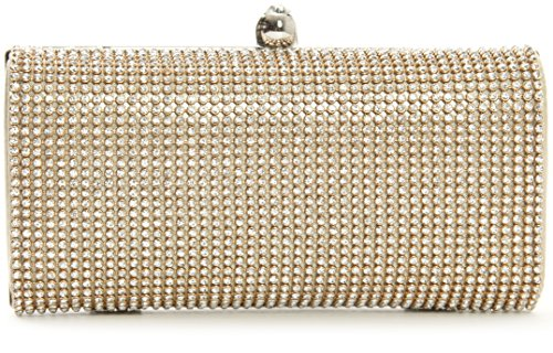 fermoir Or avec Big Shop One Pochette soirée rond et strass doré de Handbag BpT86pH