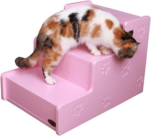 ZSCWMB Escalera para Mascotas Entrenamiento de Mascotas Escaleras para Gatos y Perros Escaleras para Subir Mascotas Nido de Mascotas Simple 600X420X420mm escaleras de Mascotas (Color : Pink): Amazon.es: Hogar