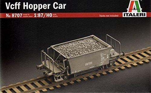 Hopper Car Kit - Italeri 1:87 HO Scale Vcff Hopper Car Rail Wagon Plastic Model Kit #8707
