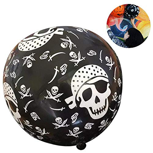 Aolvo 10Pcs 12 Inch Bat/Pumpkin/Skull/Spider Printed Latex Balloons for Halloween Party Decorations -