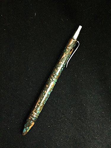 Darrel Ralph Custom Knives DDR, Custom Slim Line Copper Pen, Shark Skin Patina For Sale