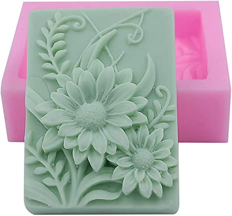 Soap Mold Silicone Craft Leaf Round Soap Making Mould DIY Candle Resin Mold