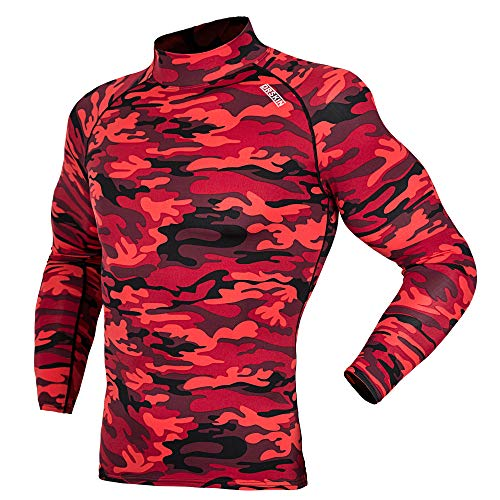 DRSKIN] Thermal Wintergear Fleece ColdGear Tight Thermal Compression Base Layer Long Sleeve Under top Shirts (HOT SMRE10, 3XL) - Tight Long Sleeve Top