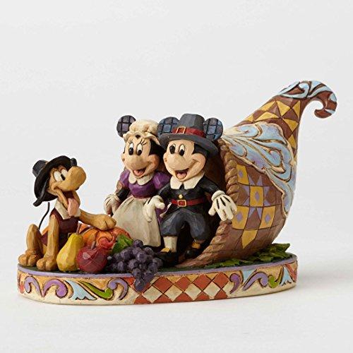 Enesco Jim Shore Disney Holiday Harvest Mickey and Minnie Autumn Figurine 4051981 New