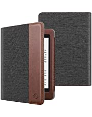 Fintie Folio Case for Kindle Paperwhite (Fits All-New 10th Generation 2018 / All Paperwhite Generations) - Book Style Vegan Leather Shockproof Cover with Auto Sleep/Wake (Denim Charcoal)