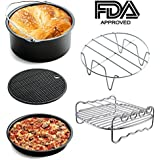 Universal Air Fryer Accessories for Phillips Gowise Cozyna etc, 5 Pcs of kit Fit all Standard Air Fryer 3.2-4.5QT