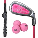 """USKG Yard Club/Schläger 39"""" Pink,Molded Training Grip promotes proper hand position, Super-lightweight, oversized head provides more hitting area, Designed to hit limited flight and real golf balls, too! Great for fun, right in your back yard. Makes for an easy transition to the range. Yard Club prepares the beginning golfer for more advanced clubs."""