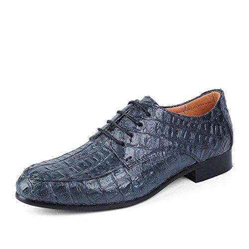 HGDR Scarpe Formali Da Uomo Modello Coccodrillo Scarpe Da Sera Eleganti Da Lavoro In Pelle Nera Da Ufficio Blue