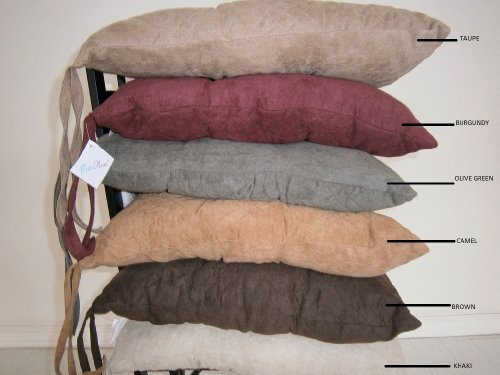 Large Size Set of 4 Soft Micro Suede Dining Office Chair Cushion Pads 17x17
