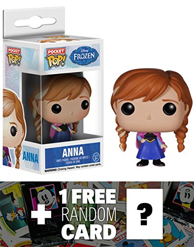 Anna: Pocket POP! x Disney Frozen Mini-Figure + 1 FREE Classic Disney (Little Uglydoll Keychain)