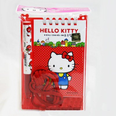 Sanrio Hello Kitty Memo Pad with Ball Point Pen : City Life