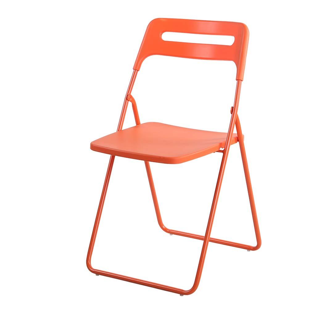 Orange  Pliant Chaise D'étudiant portable Portant Forte En Plastique Durable Bureau Loisirs Ordinateur Conférence Formation Seat Siège à Manger Chaise Chaise (Couleur   rose)