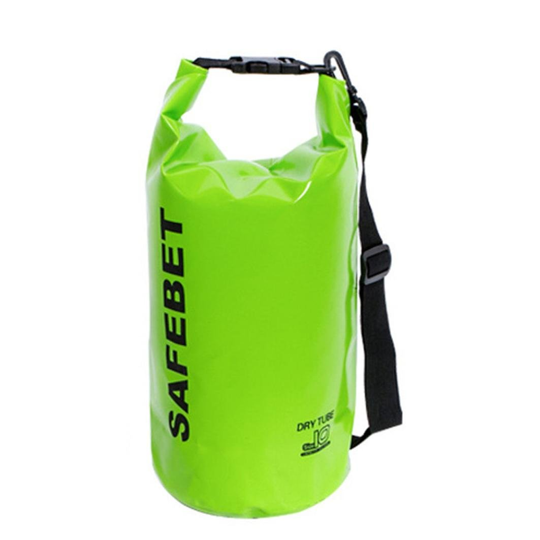Floating Waterproof Dry Bag, Sacow 10L Portable PVC Roll Top Sack Keeps Gear Dry for Kayaking, Rafting, Boating, Swimming, Camping, Hiking, Beach, Fishing (F) by Sacow