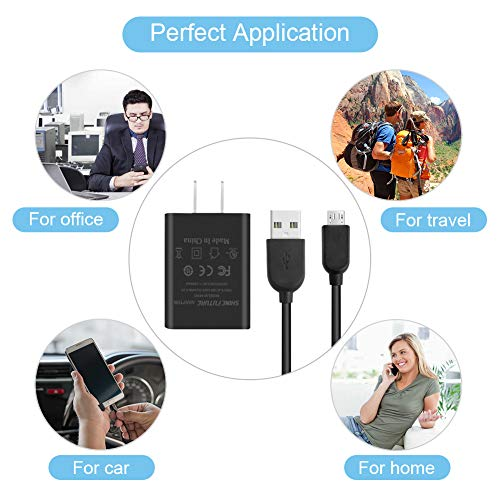 """Kindle Fire Fast Charger,AC Adapter 2A Rapid Charger with 5.0 Ft Micro-USB Cable for Kindle Fire HD 7 8 10 Tablet,HDX 6"""" 7"""" 8.9"""" 9.7"""" and Phone"""