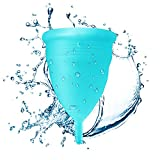 Blossom Menstrual Cup Is Better Than Diva Cup Hands Down! Say No to Tampons. Get Blossom Cups for Menstrual (Small, Blue)