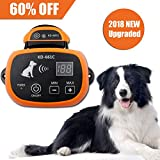YHPOYLP 100% Wireless Dog Fence System Outdoor Invisible Pet Containment System,Rechargeable &Waterproof,with Tone、Vibration and Shock,Safe & Easy Install (Orange, 1 Dog System)