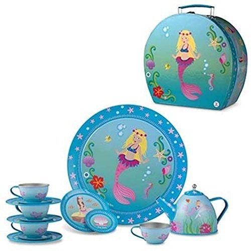 Pink Poppy Mermaid Tea Set