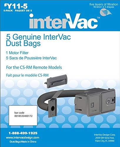 Y11-5 Genuine InterVac Vacuum Cleaner Dust Bags for CSRM ()