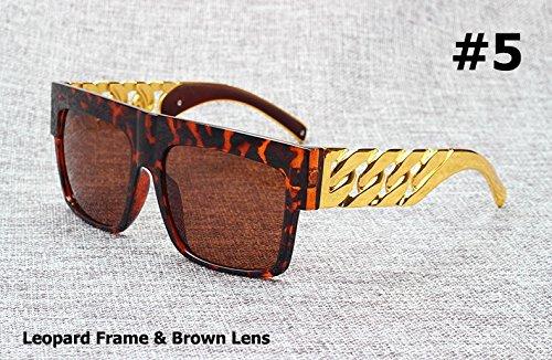 cadena dorado sol Gafas Kim famosa 5 con estilo Kardashian metal de famosa 3 la en inspirado Fashion de Beyonce vintage Aprigy v05wtqW