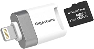 [Apple MFi Certified] Gigastone 32GB iPhone Flash Drive, Lightning, Super App for iOS iPad, Backup Facebook Instagram Dropbox Google Drive Contacts 4K Video Music, Full iPhone Backup