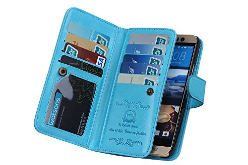 Wallet Luxury Leather Credit blue product image