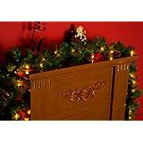 idena iii 60196 weihnachtskranz mit 10 warm wei en led batteriebetrieben mit timer amazon. Black Bedroom Furniture Sets. Home Design Ideas