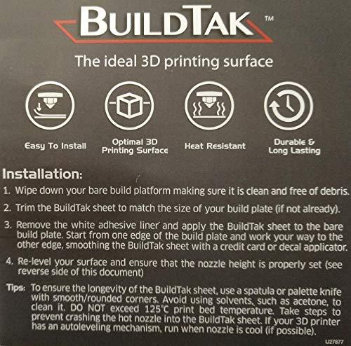 203 x 203 mm Plaque dimpression robuste BuildTak Avec lit dimpression Pour imprimante 3D