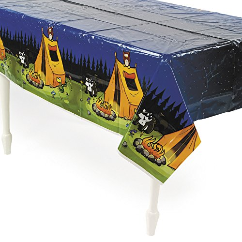 Fun Express Inc. Camping Camp Adventure Plastic Tablecover - 54'' x 108'' by Fun Express