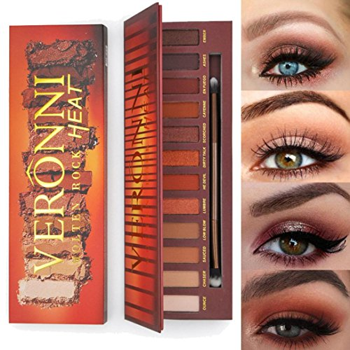 New 12 Colors VERONNI Melton Rock HEAT Warm Color Eyeshadow Palette Makeup Eye Shadow Palette By DMZing hot sale