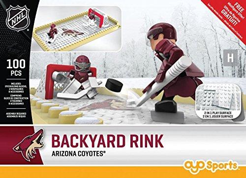 OYO NHL Phoenix Coyotes Arizona Ctes Backyard Rink Set, Small, Black